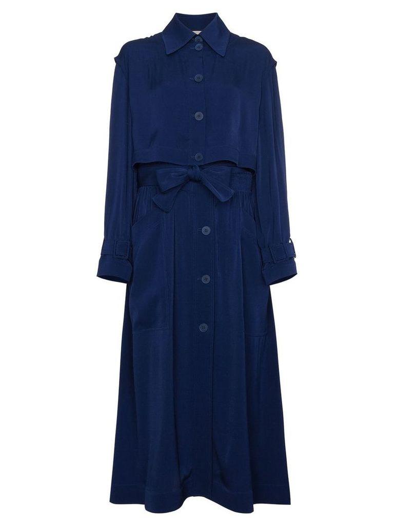 Stella McCartney Elasticated Waist Trench Coat - Blue