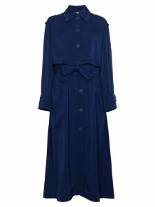 Stella McCartney Elasticated Waist Trench Coat - Blue
