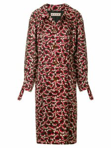 Marni geometric patterned trench coat - Multicolour