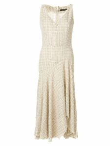 Alexander McQueen lurex detail asymmetric dress - Neutrals