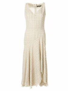 Alexander McQueen lurex detail asymmetric dress - Neutrals