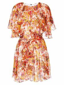 MSGM floral chiffon dress - Yellow