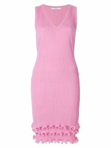 Givenchy frill-trim fitted dress - Pink
