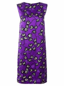 Marni floral print shift dress - Purple