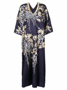 Josie Natori Vines Square caftan dress - Blue