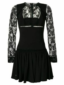 Philipp Plein lace panel mini dress - Black