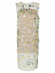 Marni embellished shift dress - White