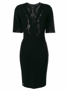 Philipp Plein lace panel dress - Black