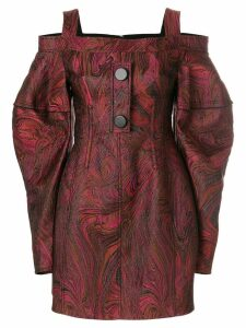 Ellery Bougie off shoulder short dress - Red