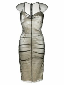 Tom Ford layered fitted dress - NEUTRALS