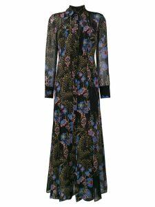 Etro floral print maxi dress - Black