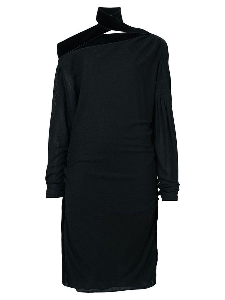 Tom Ford off shoulder ruched dress - Black