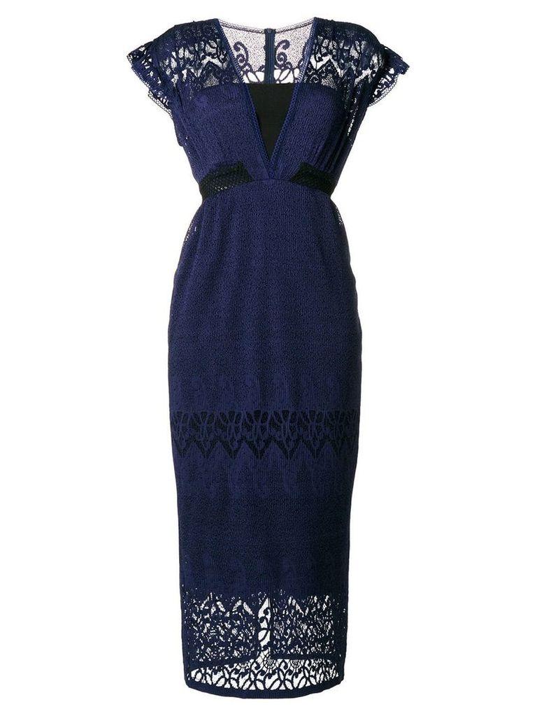 Three Floor Dusck cap sleeve dress - Blue