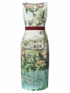 Antonio Marras floral fitted midi dress - Multicolour