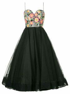 Bambah floral detail tulle dress - Black