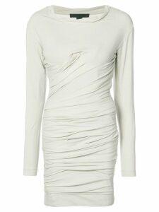 Alexander Wang Bustier Ruched Mini dress - Neutrals