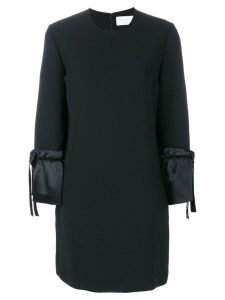 Victoria Victoria Beckham contrast cuff dress - Black