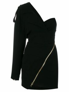 Alexandre Vauthier fitted one-shoulder dress - Black