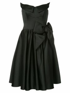 Moschino sculpted satin prom dress - Black