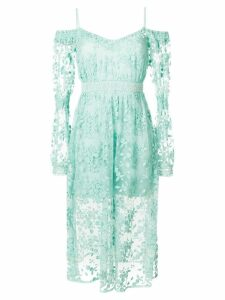 Three Floor Geneva cold shoulder dress - Green