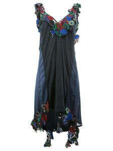 Sacai floral embellished asymmetric dress - Multicolour