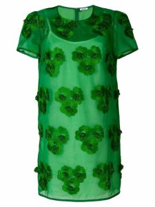 P.A.R.O.S.H. floral embroidered shift dress - Green