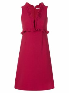 P.A.R.O.S.H. V-neck ruffle dress - PINK