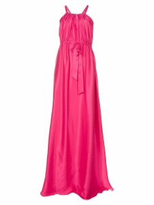 Lanvin flared cinched waist gown - Pink