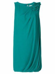 Lanvin flower appliqué dress - Green