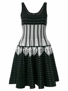 Dsquared2 patterned intarsia dress - Black
