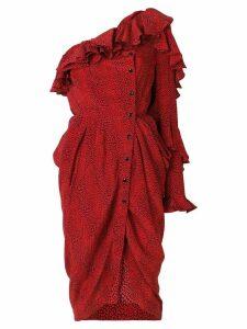 Philosophy Di Lorenzo Serafini one shoulder asymmetric dress - Red