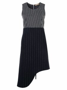 Nehera pinstripe asymmetric sleeveless dress - Black