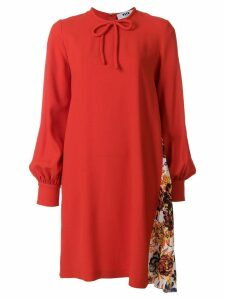 MSGM contrast panel dress - Red