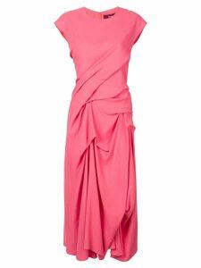 Sies Marjan ruched midi dress - Pink