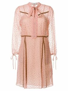 Coach star print georgette dress - Pink