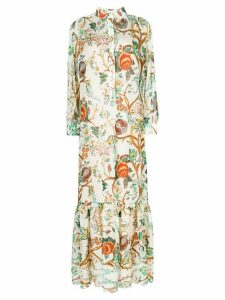 Alberta Ferretti floral print shirt dress - Multicolour