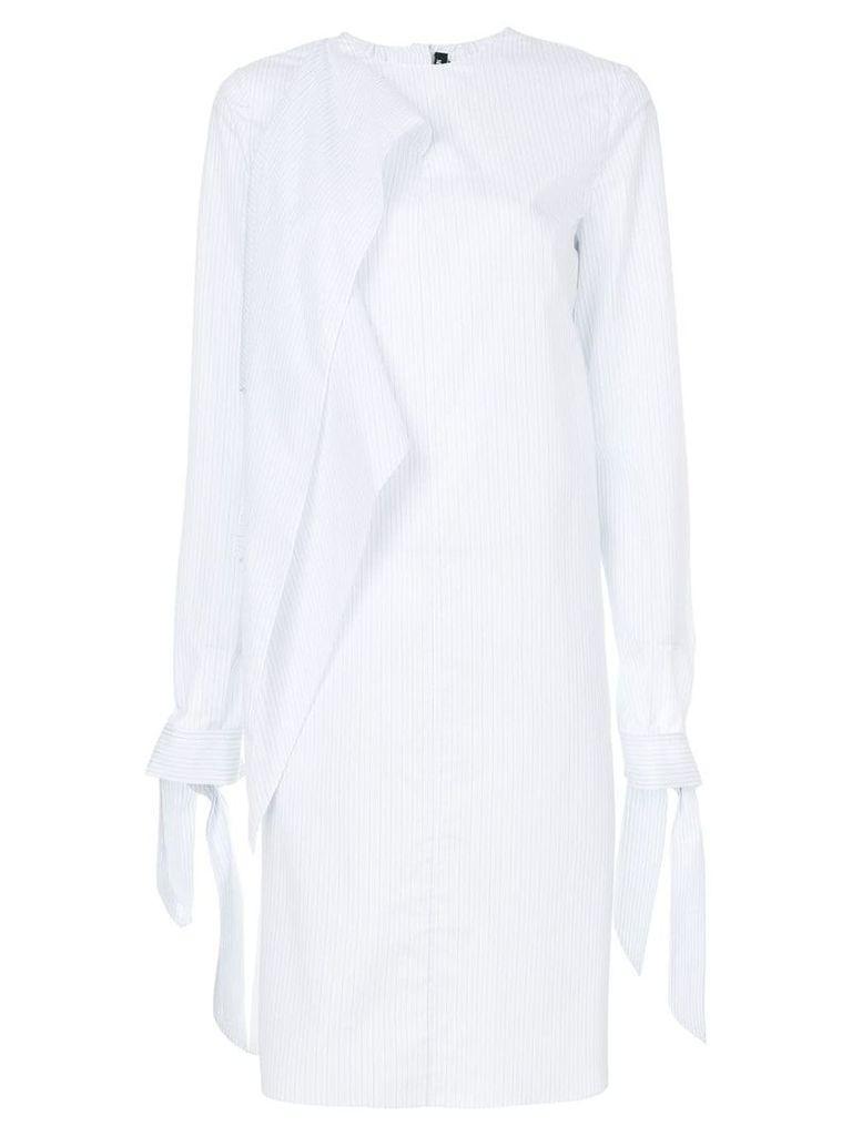 Calvin Klein 205W39nyc asymmetric striped dress - White