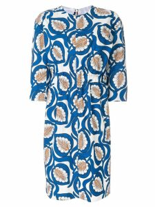 Marni leaf print dress - Blue