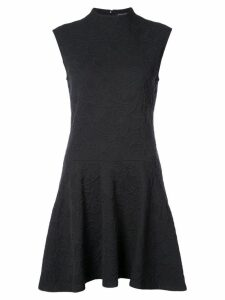 Josie Natori high neck ruffle dress - Black