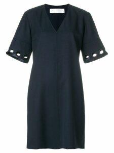Victoria Victoria Beckham cutout sleeve shift dress - Blue