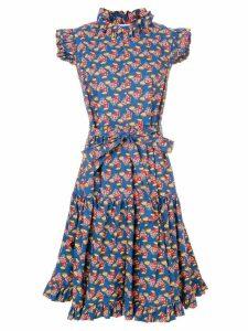 La Doublej flared chicken print dress - Blue