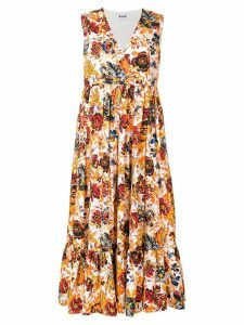 MSGM floral print wrap maxi dress - Yellow