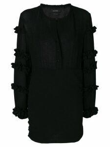 Isabel Marant ruffle-trimmed dress - Black