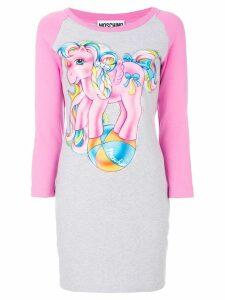 Moschino My Little Pony raglan T-shirt dress - Grey