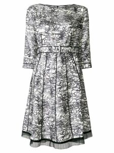 MARC JACOBS patterned pleated dress - White