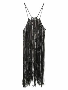 Caravana Bulkabal long fringed dress - Black