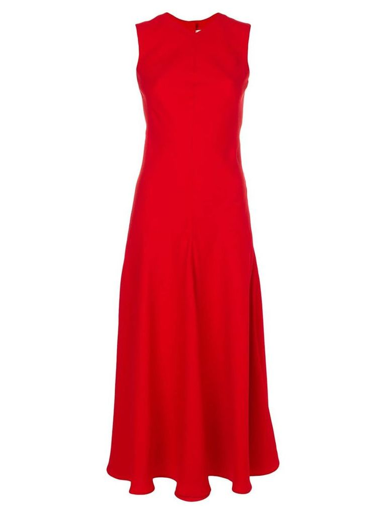 Khaite fit and flare dress - Red