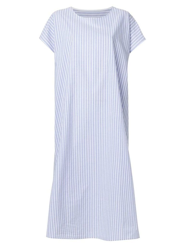 Mm6 Maison Margiela striped shirt dress - Blue