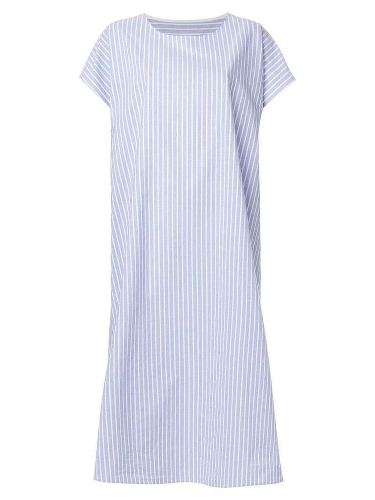 Mm6 Maison Margiela striped shirt dress - Blue