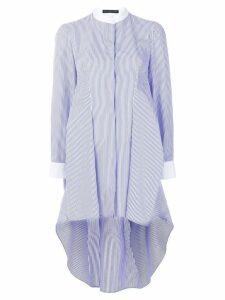 Alexander McQueen striped grandad shirt dress - Blue